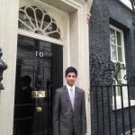 Azhar outside No 10