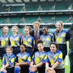 Quest Academy students with Prince Harry at Twickenham